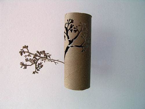 yuken teruya toilet paper roll cut out flower