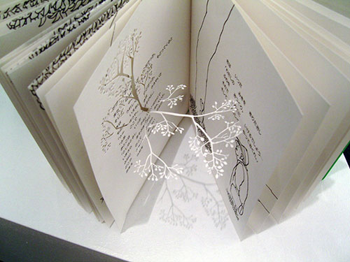 yuken teruya book page cut out flower