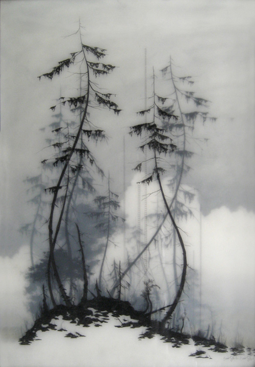 Drawings by artist Brooks Shane Salzwedel