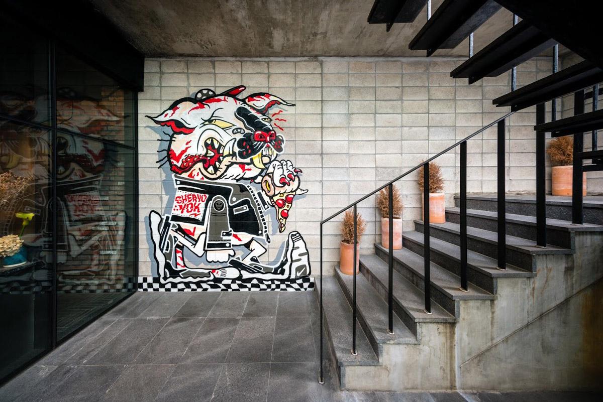 Mural by Sheryo, photo by Brandon Shigeta