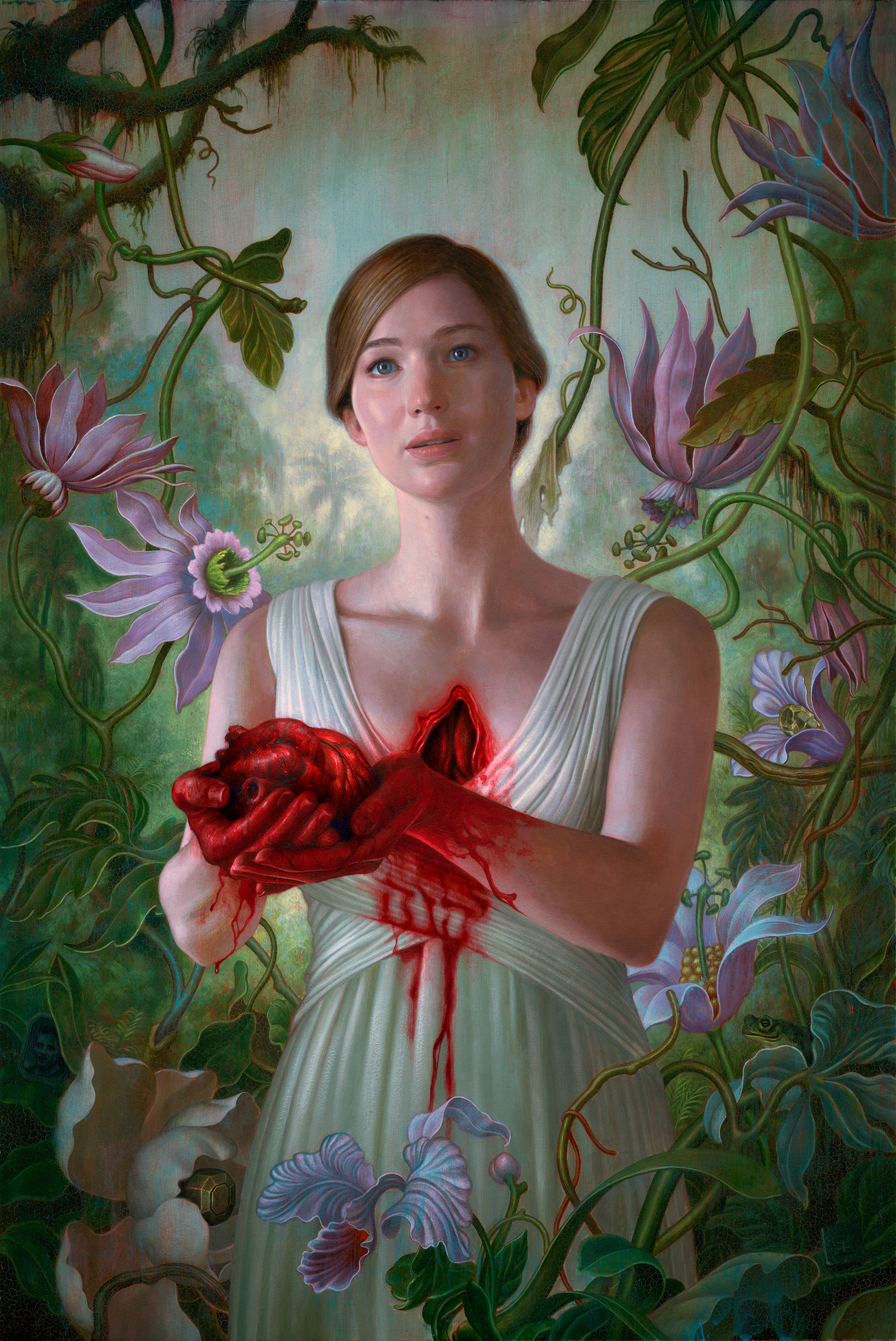 Official movie poster for mother! by James Jean
