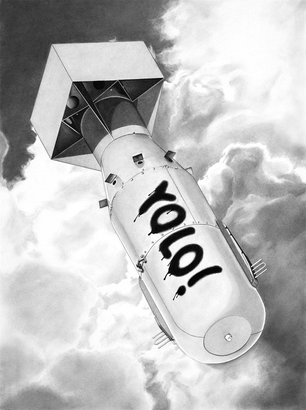 You only live once / Pencil on arches / 57 x 76 cm