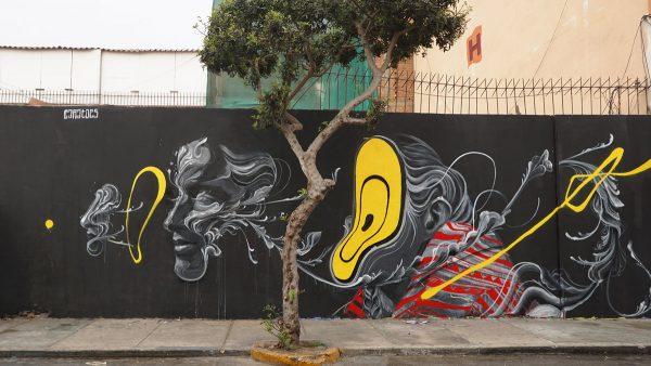 Caratoes mural in Lima, Peru