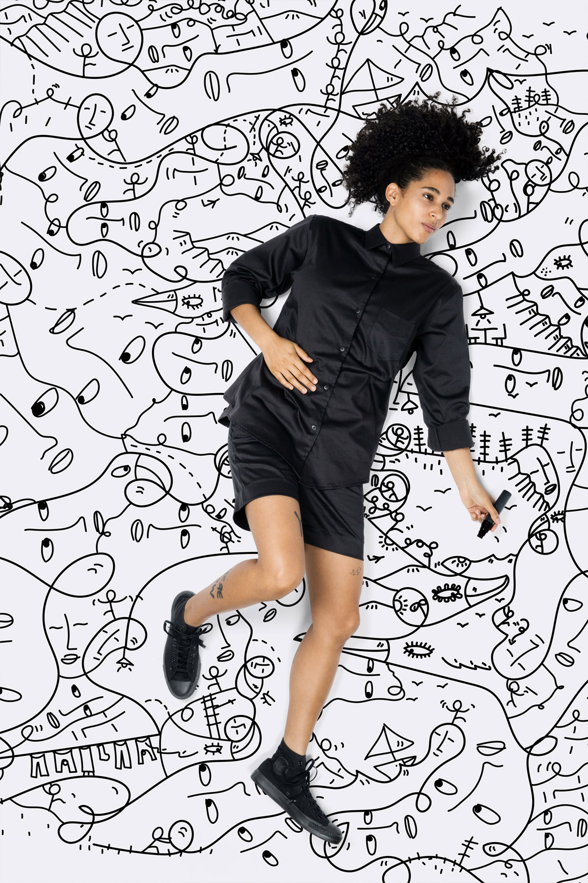 Artist Shantell Martin drawings
