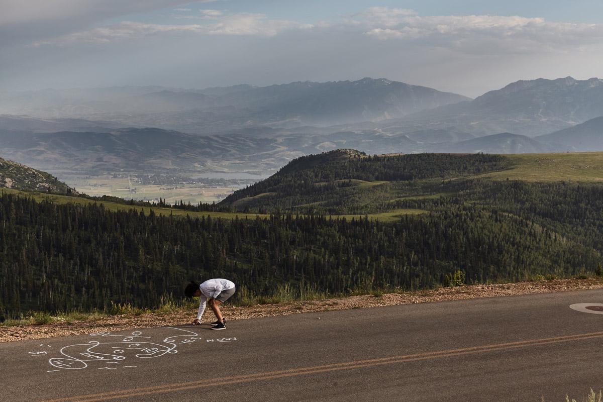 Artist Shantell Martin — roadside
