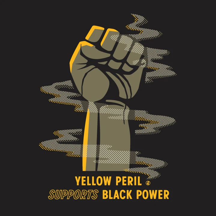 yellow peril supports black power booooooom create inspire community art design music film photo projects yellow peril supports black power